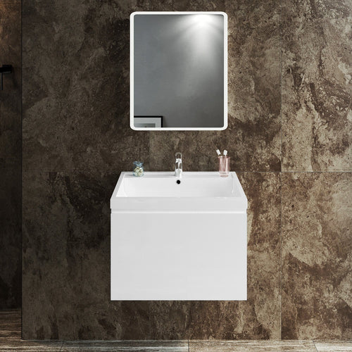ELEGANT SHOWERS Bathroom Vanity Wall Mounted-Cabinet Storage Artificial Stone 600x450x400mm - Elegant Showers