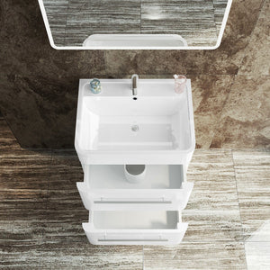 ELEGANT SHOWERS Bathroom Vanity Wall-mounted Cabinet Storage Wash Basin Unit600x450x850mm - Elegant Showers