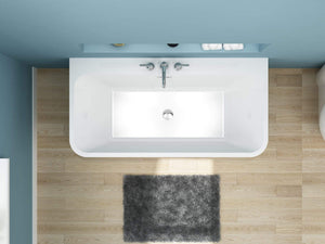ELEGANT SHOWERS Bathroom Square Freestanding Bath tub Acrylic-1500/1700x750x580mm - Elegantshowers
