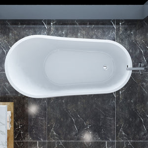 ELEGANT SHOWERS Bathroom Round Bath Tub Freestanding Acrylic-1500x700x600mm - Elegantshowers