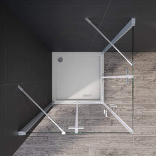 ELEGANT Frameless Corner Shower Enclosure 6mm Tempered Glass Nano Coating Easy to clean 900x900mm - Elegantshowers