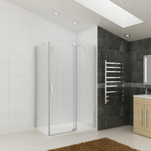 Fully Frameless Pivot Shower Screen Bathroom Cubical Safety Glass - Elegantshowers