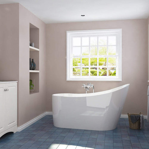 ELEGANT SHOWERS Bathroom Bath Tub Freestanding Acrylic-1500x600x800mm - Elegantshowers