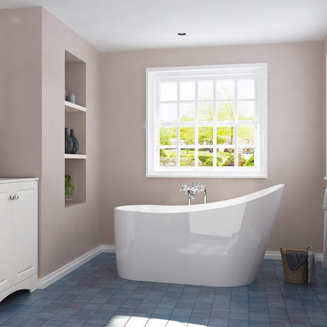 ELEGANT SHOWERS Bathroom Bath Tub Freestanding Acrylic-1500x600x800mm - Elegant Showers