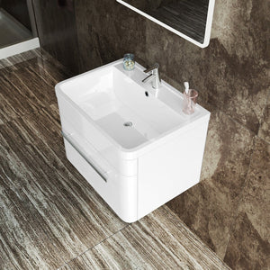 ELEGANT SHOWERS Bathroom Vanity Wall Mounted Storage Cabinet Gloss Artificial Stone 600x450x450mm - Elegant Showers