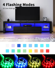 ELEGANT TV Cabinet 16 RGB LED Colors Entertainment Units Storage Stand 2000mm - Elegantshowers