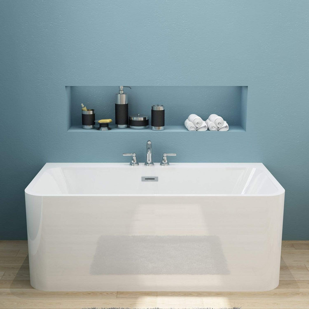 ELEGANT SHOWERS Bathroom Square Freestanding Bath tub Acrylic ...