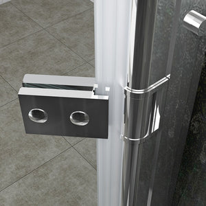 ELEGANT SHOWERS Frameless Hinge Shower Screen Door - Elegantshowers
