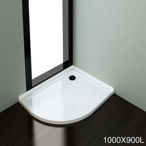 ELEGANT SHOWERS  Light Weight Urethane-marble Curved Shower Base-900x1000mm - Elegant Showers