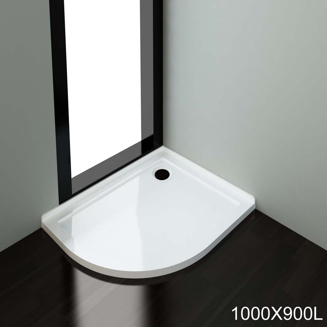 ELEGANT SHOWERS  Light Weight Urethane-marble Curved Shower Base-900x1000mm - Elegantshowers