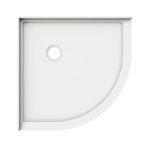 ELEGANT SHOWERS Light Weight Urethane-marble Curved Shower Base - Elegantshowers