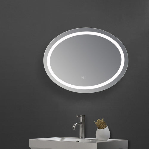 800x600mm Bathroom Make Up LED Mirror Touch Switch Anti Fogging Bright Light - Elegant Showers