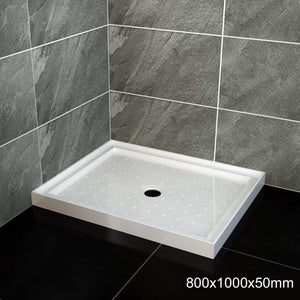 ELEGANT SHOWERS Square Shower Screen Base Thickened Acrylic