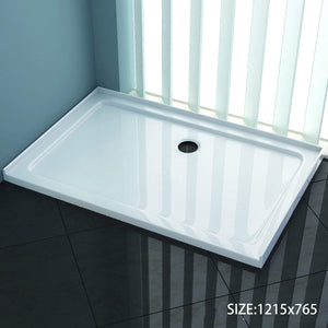 ELEGANT SHOWERS Square Shower Screen Base Acrylic Various Sizes - Elegant Showers