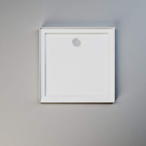 ELEGANT SHOWERS  Light Weight Urethane-marble Square Shower Base - Elegant Showers