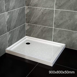 ELEGANT SHOWERS Square Shower Screen Base Thickened Acrylic - Elegantshowers