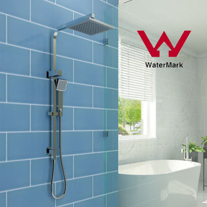 ELEGANT SHOWERS Square Rainfall & Handheld Shower Head Diverter Set - Elegant Showers