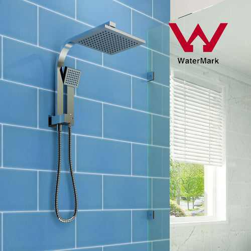 ELEGANT SHOWERS Square Rainfall Shower Head Set with Handheld Spray Head - Elegantshowers