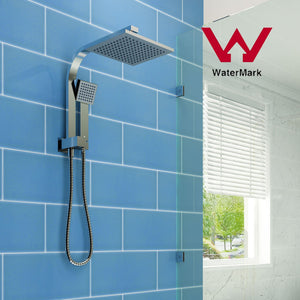 ELEGANT SHOWERS Square Rainfall Shower Head Set with Handheld Spray Head - Elegant Showers