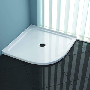 ELEGANT SHOWERS Durable Acrylic Fiberglass Curved Shower Base - Elegantshowers