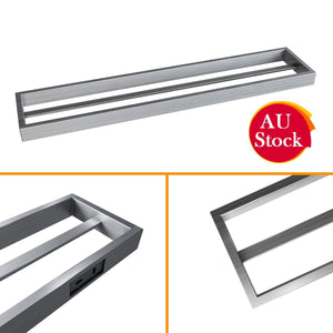 Towel Rack Bathroom Wall Mounted Three Silver Towel Rail Bar Holder 600mm - Elegant Showers