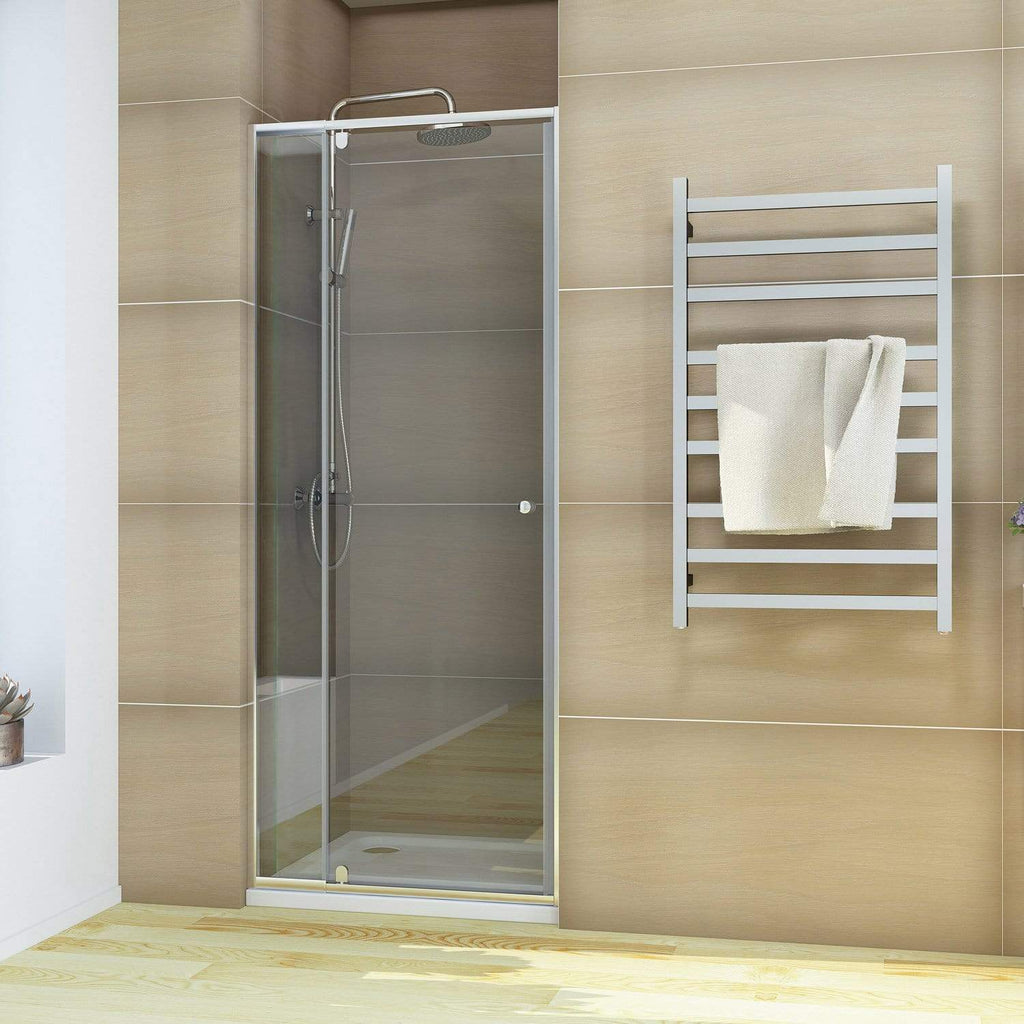 ELEGANT SHOWERS Semi-Frameless Shower Screen Pivot Door Adjustable - Elegantshowers