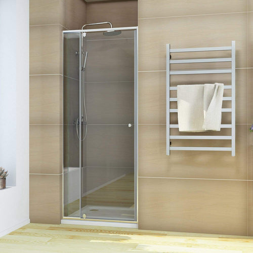 ELEGANT SHOWERS Semi-Frameless Shower Screen Pivot Door Adjustable - Elegant Showers