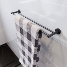Black Towel Rail Bathroom Towel Rack Wall Mounted Stainless Steel - Elegant Showers