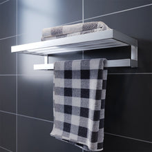 Towel Rack Bathroom Towel Rail Wall Mounted Stainless Steel Silver - Elegantshowers