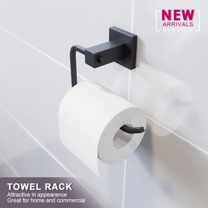 Elegant Black Towel Rack Tissue Hook Wall Mounted - Elegant Showers