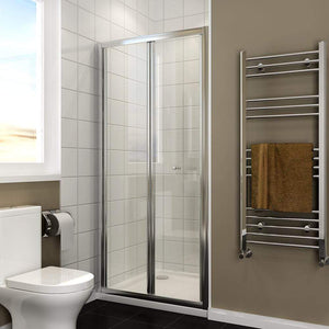 ELEGANT SHOWERS Folding Shower Door Wall to Wall Adjustable Fits - Elegant Showers