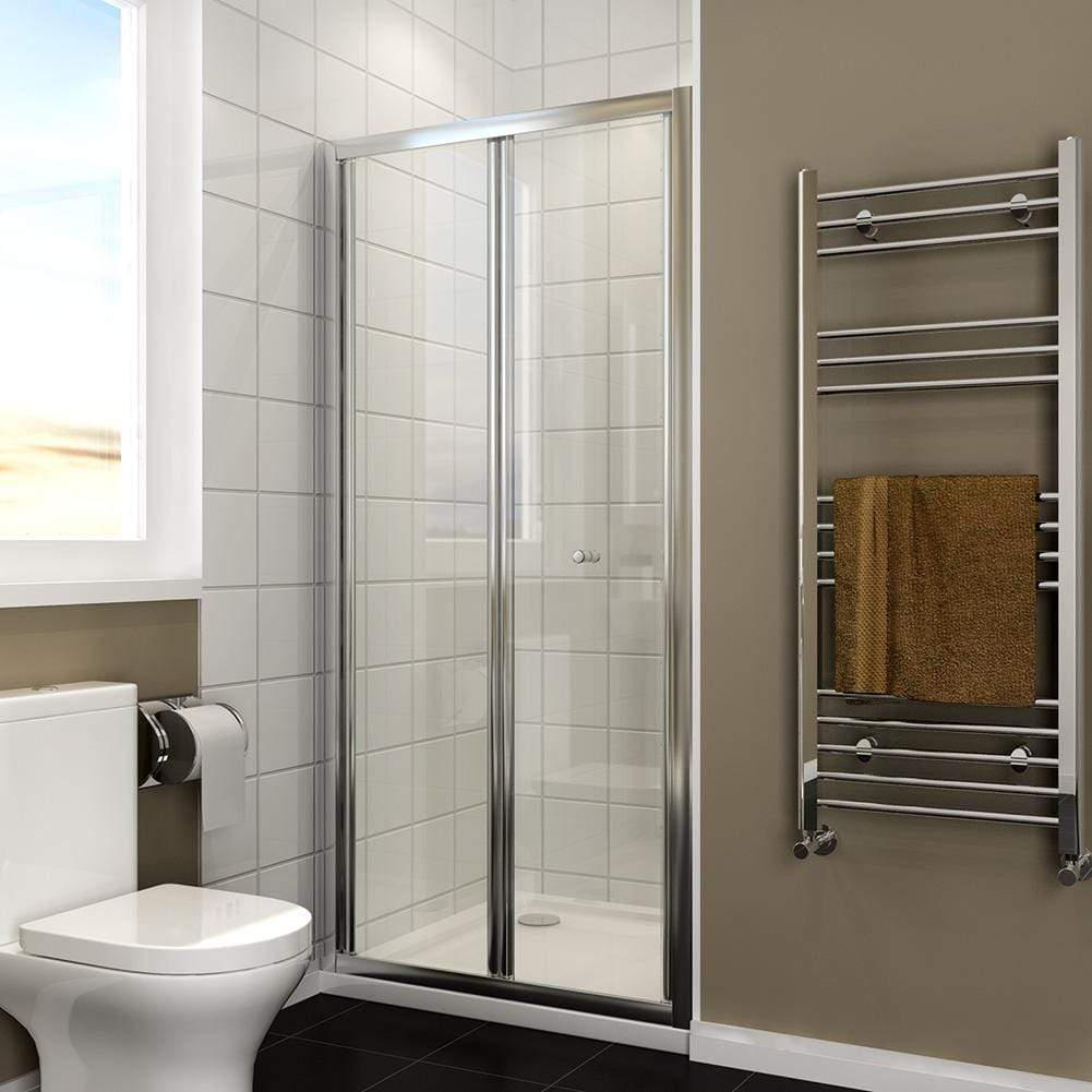 Elegant Showers Bifold Glass Shower Door Design In Ample Walk In