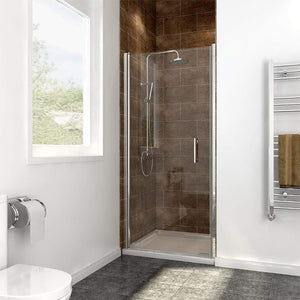 ELEGANT SHOWERS Frameless Pivot Shower Door 180° Swing
