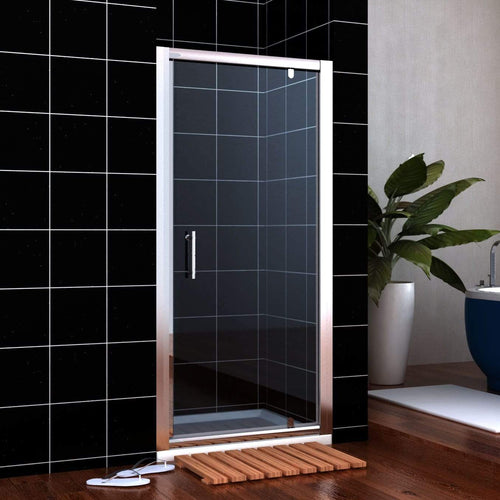 ELEGANT SHOWERS Framed Pivot Shower Screen Door Wall To Wall Fits