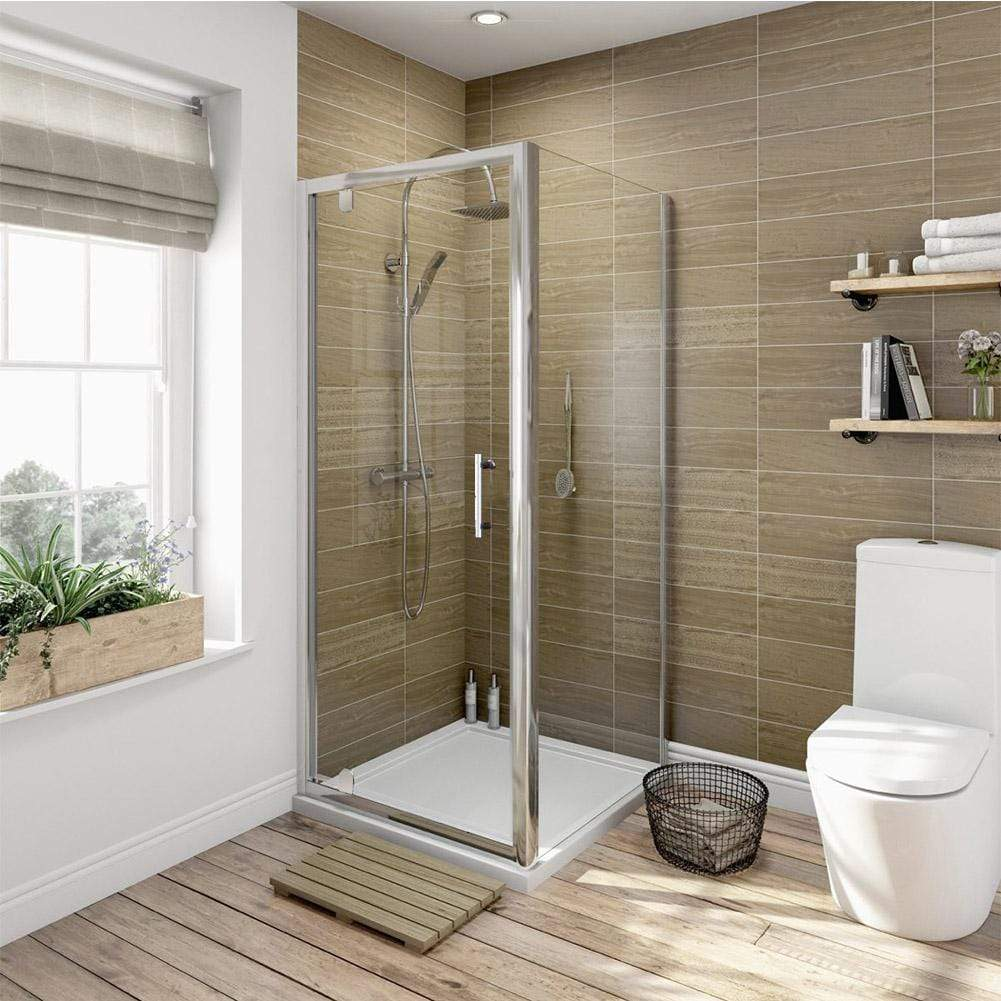 ELEGANT SHOWERS Framed Pivot Shower Screen