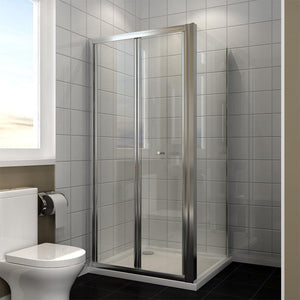 ELEGANT SHOWERS Folding Shower Screen Enclosure Space Saving Fits - Elegant Showers