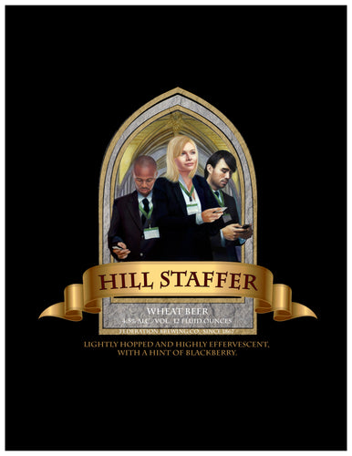 Hill Staffer Beer Label print