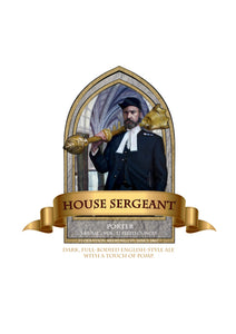 House Sergeant Beer Label print