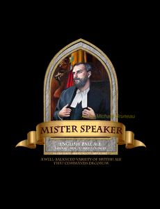Mister Speaker Beer Label print