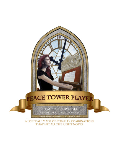 Peace Tower Player Beer Label print