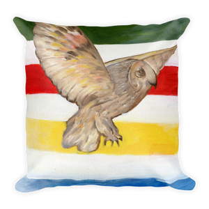 Icons - Owl and Bighorn Sheep Square Pillow
