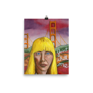 Joni Mitchell - Print Photo paper poster