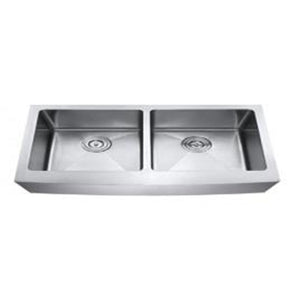 Apron Kitchen Sink Double Bowl 50/50 Stainless Steel 16 Gauge #AP3322D-A
