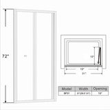 "BIFOLDING SHOWER DOOR 30"" TO 31"" WIDE 72"" HIGH - #B1202-BF31"