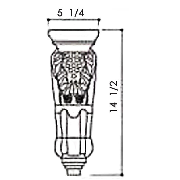 CORBEL WITH GRAPE DESIGN C1962 6