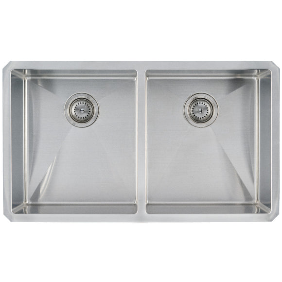 Double Bowl 50/50 Stainless Steel 16G Undermount Kitchen Sink
