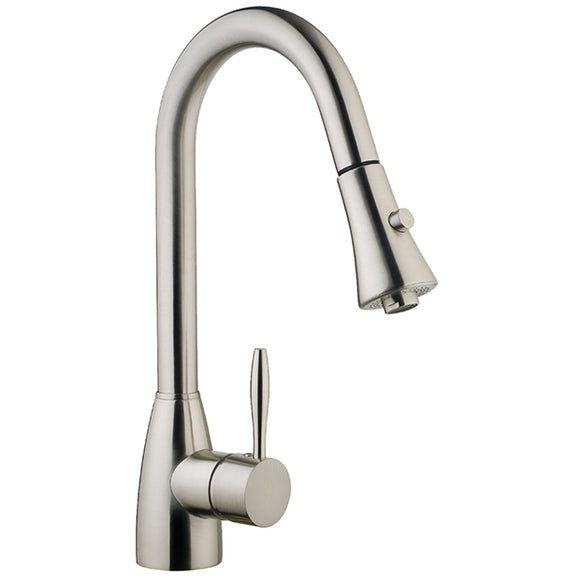 Kitchen Faucet Stainless Steel Brushed Nickel with single lever pullout #N88402-BN