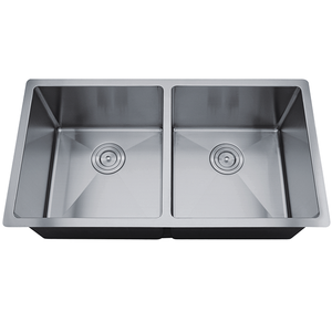 Undermount Kitchen Sink Stainless Steel 18 Gauge Double Bowl #RD3219-D