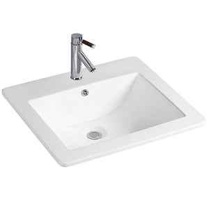 Vanity Bathroom Sink Top Mount Rectangular White #SK9050-WH