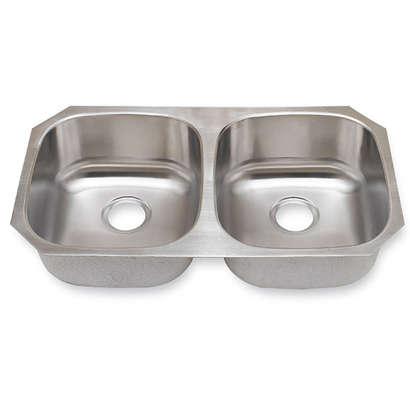 Kitchen Sink Stainless Steel 18 Gauge 50/50 with equal bowl size #SM502